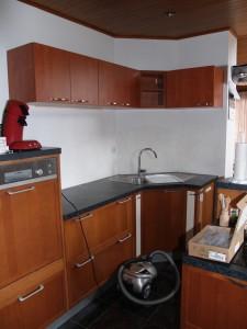 vue d'ensemble avec meubles de cuisine existant